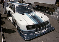 Klaus Ludwig drove the Roush-Zakspeed Ford Mustang Turbo during the 1981 and 1982 Camel GT race seasons.