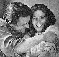 Cash and his second wife, June Carter, in 1969