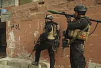 Iraqi Special Operations Forces soldiers in Mosul during the Battle of Mosul, 16 November 2016.