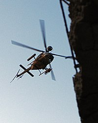 An OH-58D Kiowa provides air support to coalition troops during Operation Marne Torch I, as part of Operation Phantom Thunder, 28 June 2007.
