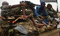 Ansar Dine terrorists during the offensive against the Mali government, 2012