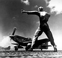 A P-51 Mustang taking off from Iwo Jima