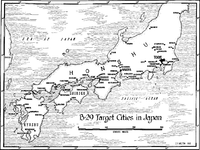 Japanese cities attacked by B-29 bombers during World War II