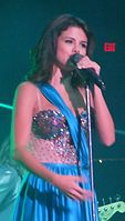 Selena Gomez in We Own the Night Tour in 2011