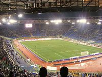 Stadio Olimpico, home of A.S. Roma and S.S. Lazio, is one of the largest in Europe, with a capacity of over 70,000.