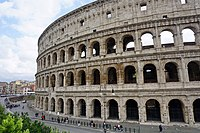 The Colosseum is still today the largest amphitheater in the world. It was used for gladiator shows and other public events (hunting shows, recreations of famous battles and dramas based on classical mythology).