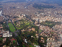 Aerial view of part of Rome's Centro Storico