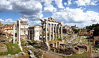 The Roman Forum are the remains of those buildings that during most of Ancient Rome's time represented the political, legal, religious and economic centre of the city and the neuralgic centre of all the Roman civilisation.