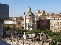 Trajan's Column, triumphal column and place where the relics of Emperor Trajan are placed.