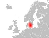 Scandinavia originally referred vaguely to Scania, a formerly Danish region that became Swedish in the seventeenth century.