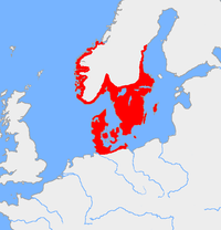 The original areas inhabited (during the Bronze Age) by the peoples now known as Scandinavians included what is now Northern Germany (particularly Schleswig-Holstein), all of Denmark, southern Sweden and the southern coast of Norway while namesake Scania found itself in the centre.