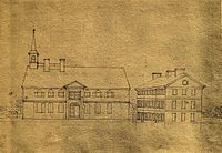Academy and College of Philadelphia (c. 1780), 4th and Arch Streets, Philadelphia, home of what became the University from 1751 to 1801