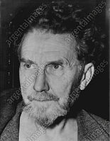 Ezra Pound, poet and critic; a major figure in the early modernist poetry movement