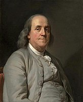 Benjamin Franklin was the primary founder, benefactor, President of the Board of Trustees and a trustee of the Academy and College of Philadelphia, which merged with the University of the State of Pennsylvania to form the University of Pennsylvania in 1791 (Joseph Duplessis, c. 1785).