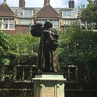 Statue of the Reverend George Whitefield at the University of Pennsylvania