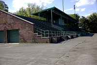 The grandstand at Memorial Field. The aging structure was finally demolished in May 2018.