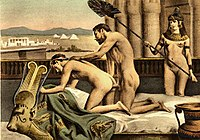 19th-century erotic interpretation of Roman emperor Hadrian and Antinous engaged in anal intercourse, by Édouard-Henri Avril