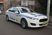 A New South Wales Police Force patrol car.