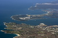 Kurnell, La Perouse, Cronulla, along with various other suburbs face Botany Bay.