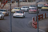 NASCAR Cup racecars before the start on the 1/2-mile configuration in September 1984
