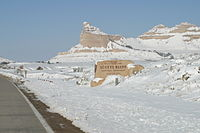 Winter at Scotts Bluff National Monument