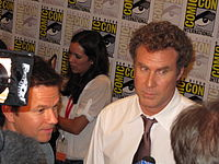 Ferrell at the 2010 San Diego Comic Con with Mark Wahlberg