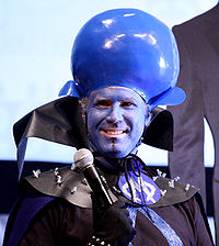 Ferrell dressed as Megamind at the 2010 San Diego Comic-Con International