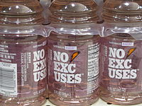 Introduced as Gatorade Ice in 2002, this flavor was re-labeled as Gatorade Rain in 2006 and No Excuses in 2009.