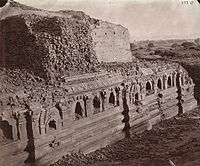 Rear view of the ruins of the Baladitya Temple in 1872.