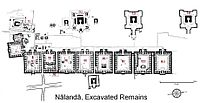 A map of the excavated remains of Nalanda.