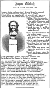 Elegy to Offenbach by Clement Scott in the magazine Punch