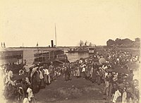 The landing of British forces in Mandalay after the last of the Anglo-Burmese Wars, which resulted in the abdication of the last Burmese monarch, King Thibaw Min.