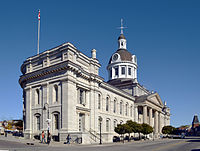 The Kingston City Hall, of the city of Kingston, where Bryan Adams was born