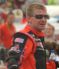 Jeff Burton (pictured in 2007) won the race after passing Kenseth, and ended a 175-race winless streak.