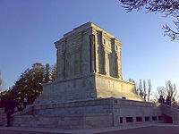Tomb of the 10th-century Persian poet Ferdowsi, author of Šāhnāme, the classical Persian composition of the Iranian national epics, in Tus