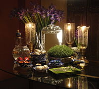 Haft-Seen, a customary of Nowruz, the Iranian New Year