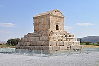 Tomb of Cyrus the Great, founder of the Achaemenid Empire, in Pasargadae