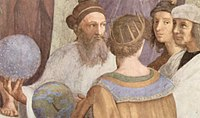 Zoroaster, the founder of Zoroastrianism, depicted on Raphael's The School of Athens