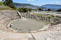 The theatre of Halicarnassus (modern Bodrum) was built in the 4th century BC by Mausolus, the Persian satrap (governor) of Caria. The Mausoleum at Halicarnassus (Tomb of Mausolus) was one of the Seven Wonders of the Ancient World.