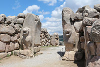 The Lion Gate in Hattusa, capital of the Hittite Empire. The city's history dates back to the 6th millennium BC.