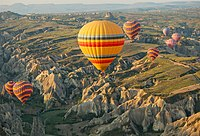 Cappadocia is a region created by the erosion of soft volcanic stone by the wind and rain for centuries.