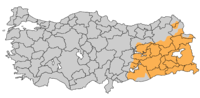 CIA map of areas with a Kurdish majority
