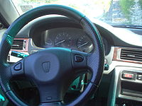 The dashboard of a Rover 400