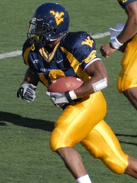 Steve Slaton, WVU's fifth all-time leading rusher and record holder for single-season rushing yards (1,744)