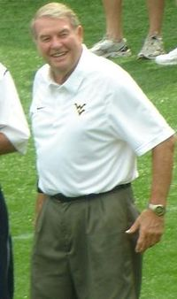 Don Nehlen, winner of four Coach of the Year awards at WVU.