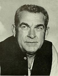 Art Lewis, WVU head coach (1950–59) and the program's 3rd all-time leader in wins (58).
