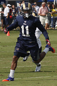 Tavon Austin, holder of multiple WVU records and 8th overall selection in the 2013 NFL Draft.