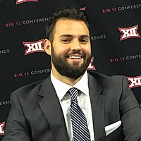 Will Grier, WVU quarterback (2017-2018) 4th place in Heisman Trophy voting in the 2018 season and the program's 3rd all-time leading passer.