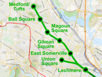 Route of the Green Line Extension