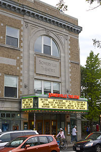 Entrance of the Somerville Theatre